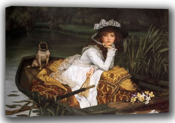 Tissot, James Jacques Joseph: Young Lady in a Boat. Fine Art Canvas. Sizes: A4/A3/A2/A1 (001637)